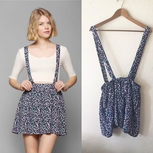 Coincidence & Chance 4 Floral Suspender Skirt UO